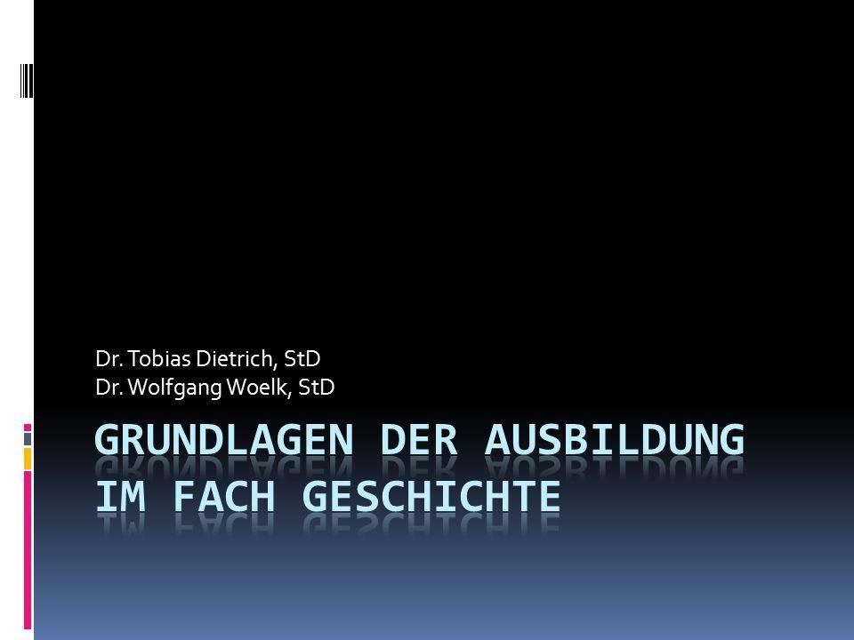 Dr. Tobias Dietrich, StD Dr. Wolfgang Woelk, StD