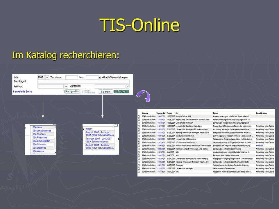 TIS-Online Im Katalog recherchieren: