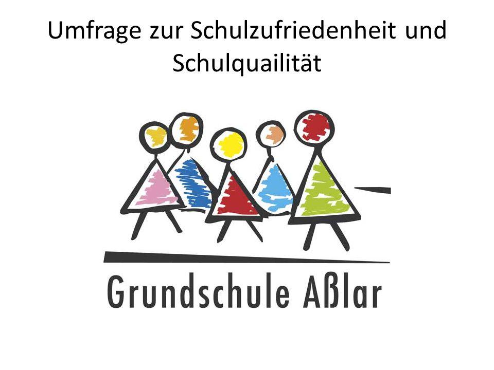 Umfrage zur Schulqualität und Schulzufriedenheit (Kooperationspartner) Der Fragebogen wurde von einer Arbeitsgruppe aus Eltern und Lehrern nach einer Vorlage des Institutes für Schulqualität erstellt.