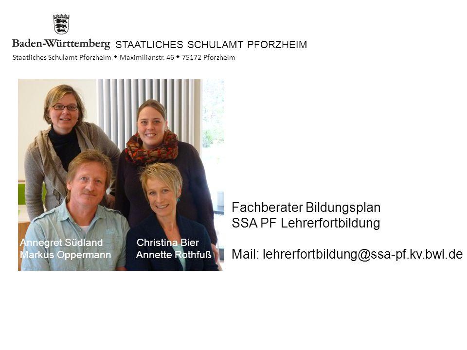 STAATLICHES SCHULAMT PFORZHEIM Staatliches Schulamt Pforzheim  Maximilianstr.