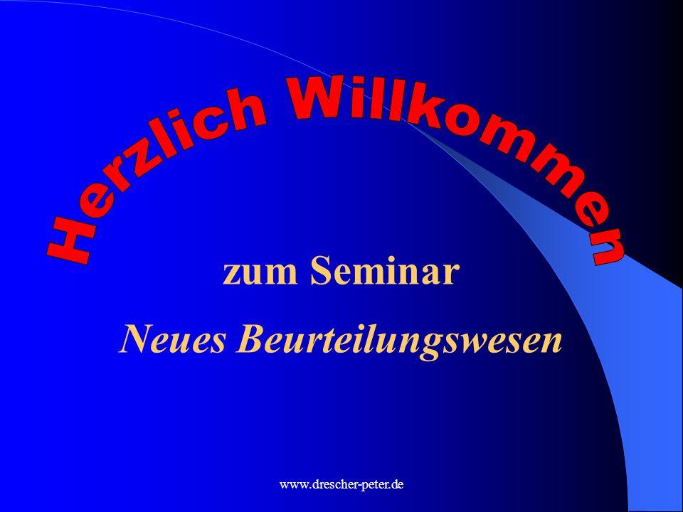 www.drescher-peter.de zum Seminar Neues Beurteilungswesen