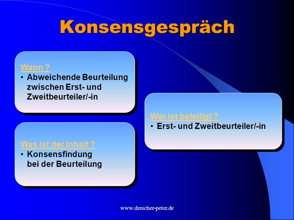 www.drescher-peter.de Konsensgespräch Was ist der Inhalt .