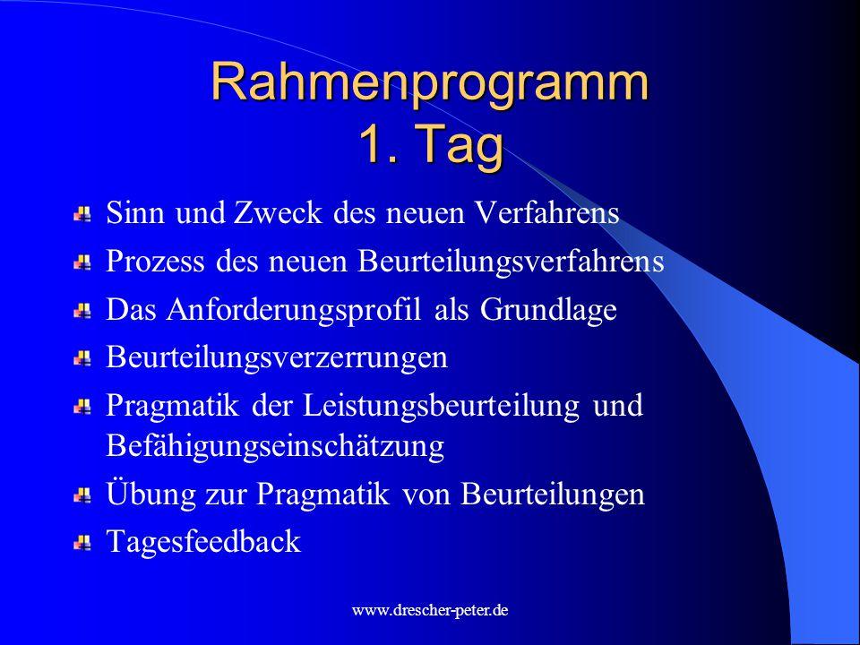 www.drescher-peter.de Rahmenprogramm 1.