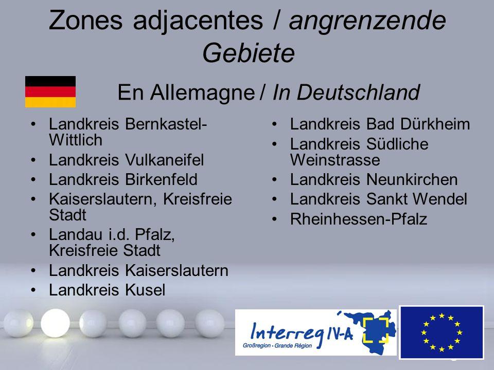 Powerpoint Templates Page 12 Zones adjacentes / angrenzende Gebiete En Allemagne / In Deutschland Landkreis Bernkastel- Wittlich Landkreis Vulkaneifel