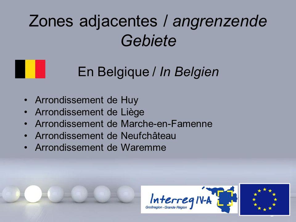 Powerpoint Templates Page 14 Zones adjacentes / angrenzende Gebiete En Belgique / In Belgien Arrondissement de Huy Arrondissement de Liège Arrondissem