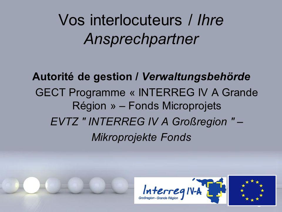 Powerpoint Templates Page 23 Vos interlocuteurs / Ihre Ansprechpartner Autorité de gestion / Verwaltungsbehörde GECT Programme « INTERREG IV A Grande