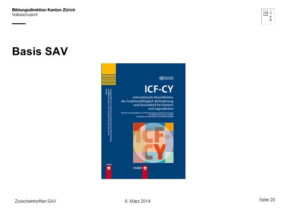 Basis SAV 6. März 2014Zwischentreffen SAV Seite 20