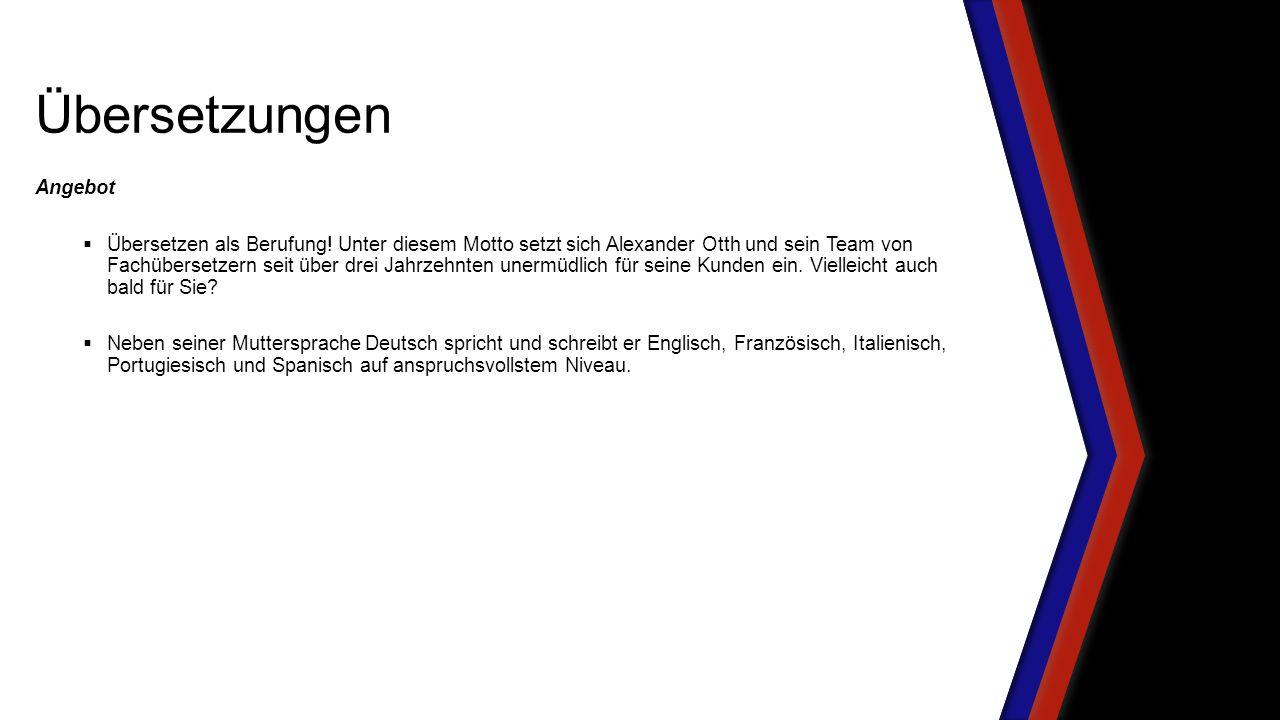 Angebot  Übersetzen als Berufung.