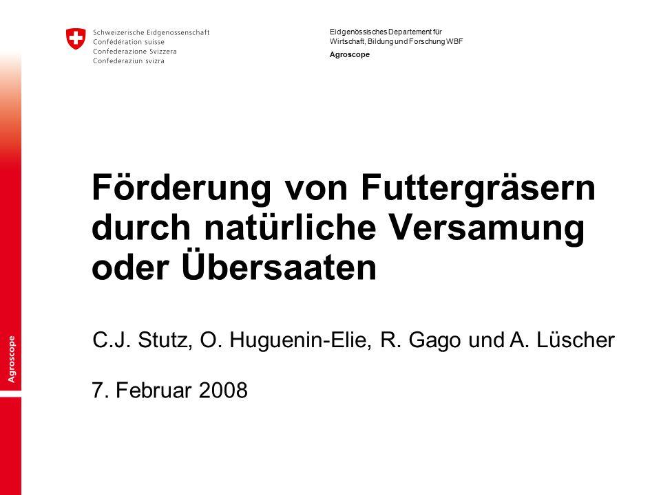 2 Gliederung Die Wuchsformen der Gräser Gezielte Gräserversamung Übersaaten C.J.