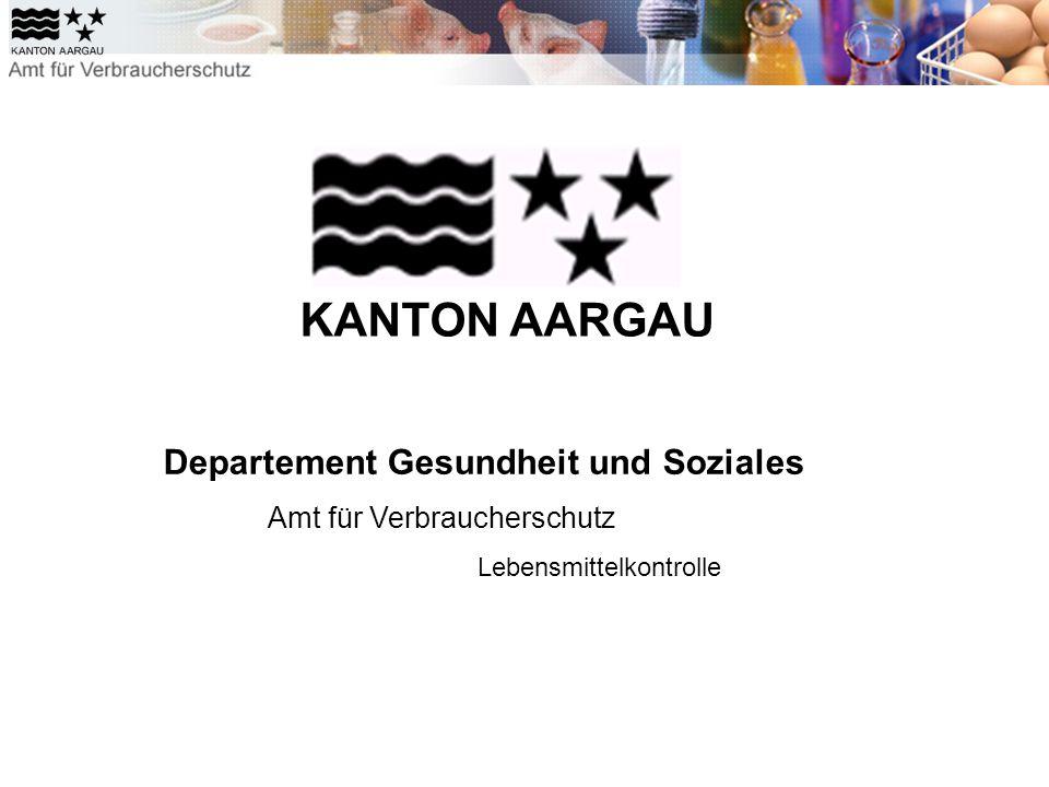 Departement Gesundheit und Soziales Amt für Verbraucherschutz Lebensmittelkontrolle KANTON AARGAU