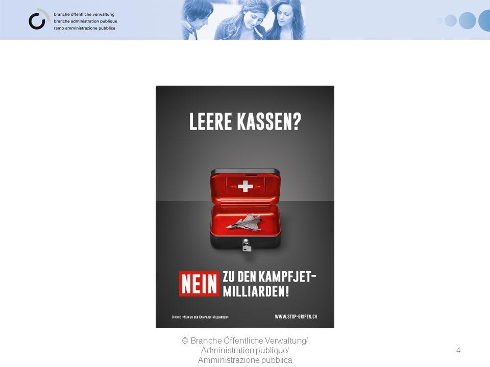 Die Grünen und Grünliberale Partei Schweiz 25 © Branche Öffentliche Verwaltung/ Administration publique/ Amministrazione pubblica