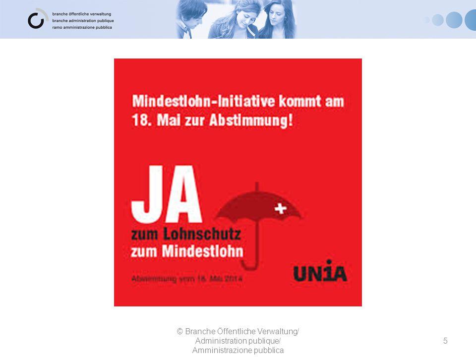 Bürgerlich-Demokratische Partei und Evangelische Volkspartei 26 © Branche Öffentliche Verwaltung/ Administration publique/ Amministrazione pubblica