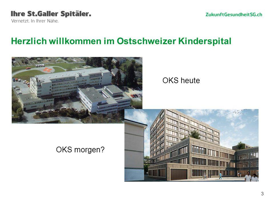 3 Herzlich willkommen im Ostschweizer Kinderspital OKS heute OKS morgen?