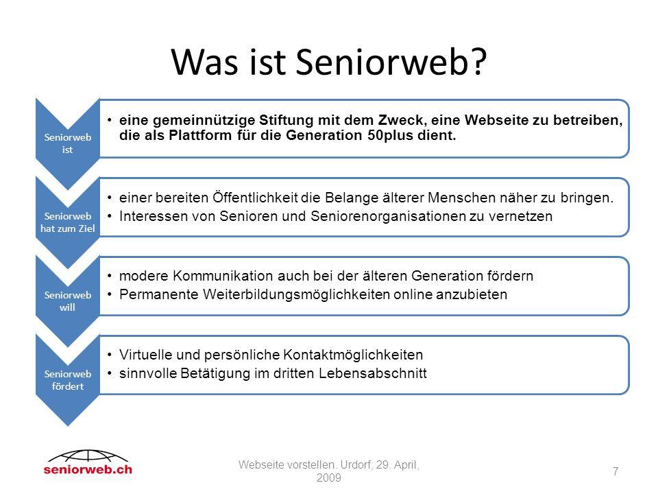 Was ist Seniorweb.