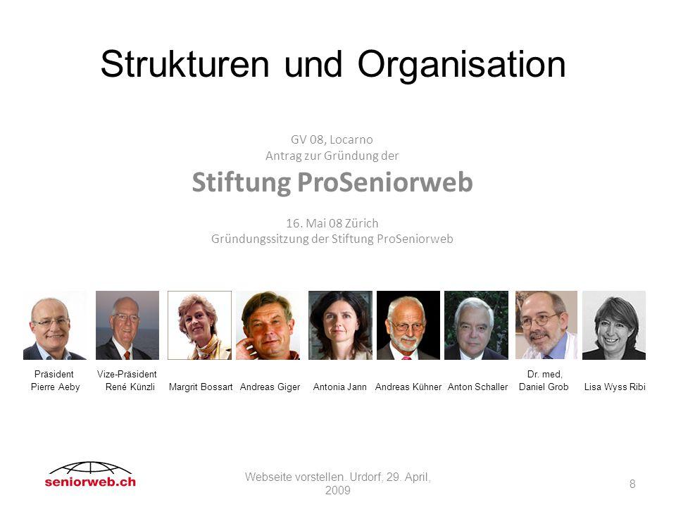GV 08, Locarno Antrag zur Gründung der Stiftung ProSeniorweb 16.