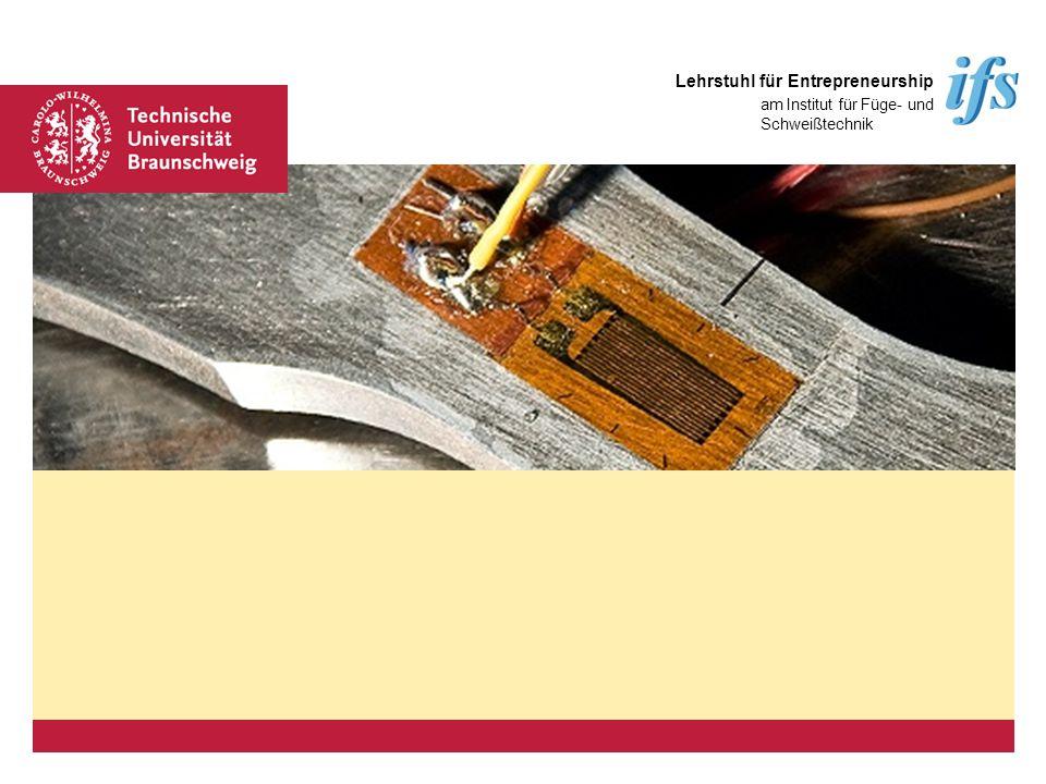 Platzhalter für Bild, Bild auf Titelfolie hinter das Logo einsetzen Lehrstuhl für Entrepreneurship am Institut für Füge- und Schweißtechnik