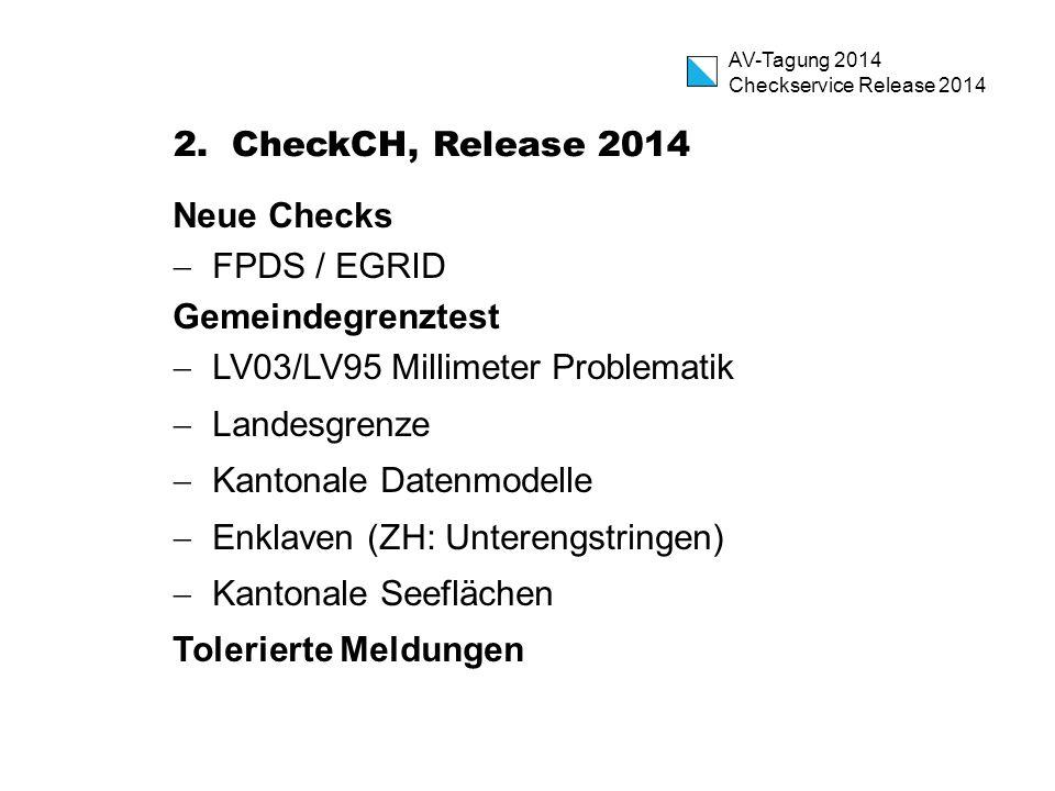 AV-Tagung 2014 Checkservice Release 2014 2.