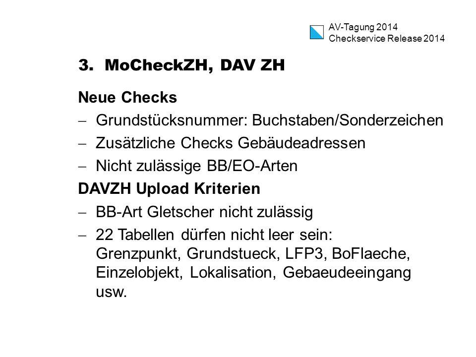 AV-Tagung 2014 Checkservice Release 2014 3.