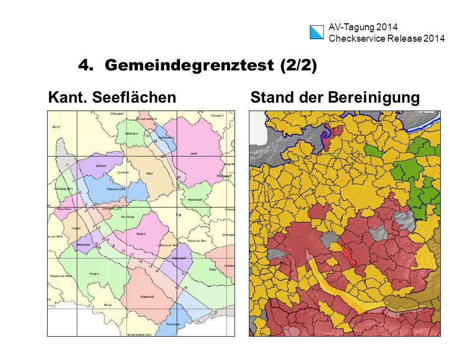 AV-Tagung 2014 Checkservice Release 2014 4. Gemeindegrenztest (2/2) Kant.