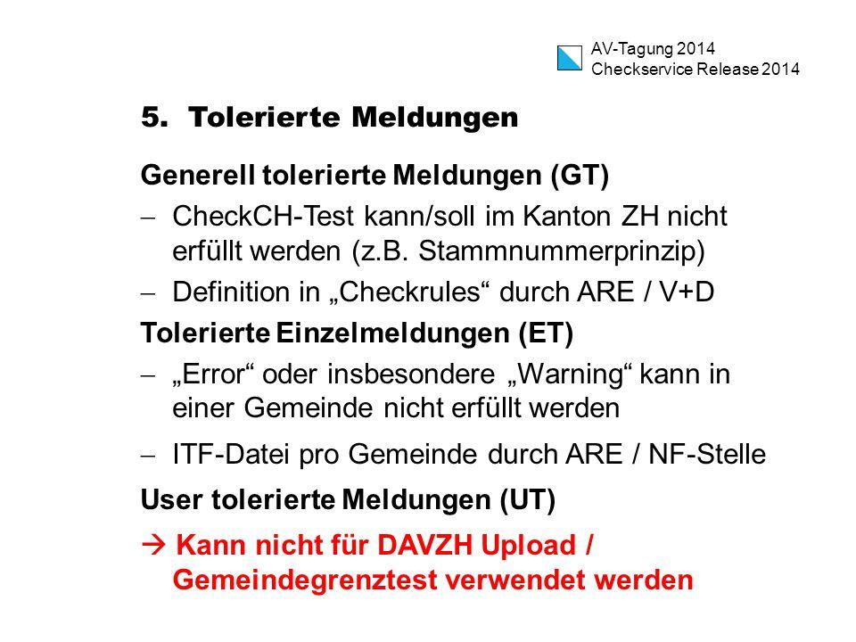 AV-Tagung 2014 Checkservice Release 2014 5.