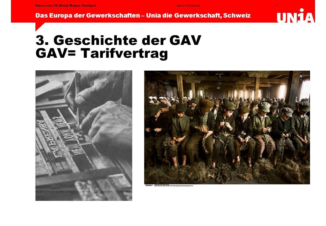 11 Das Europa der Gewerkschaften – Unia die Gewerkschaft, Schweiz Jesus FernandezSommeruni IG Metall Region Stuttgart 3.