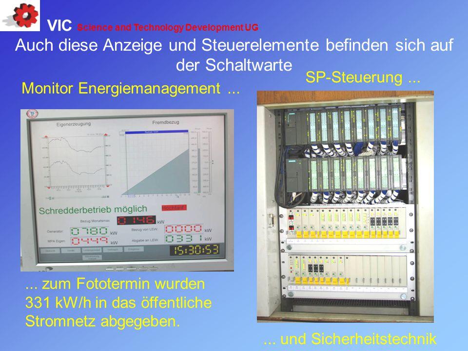 Monitor Energiemanagement...... zum Fototermin wurden 331 kW/h in das öffentliche Stromnetz abgegeben. SP-Steuerung...... und Sicherheitstechnik Auch