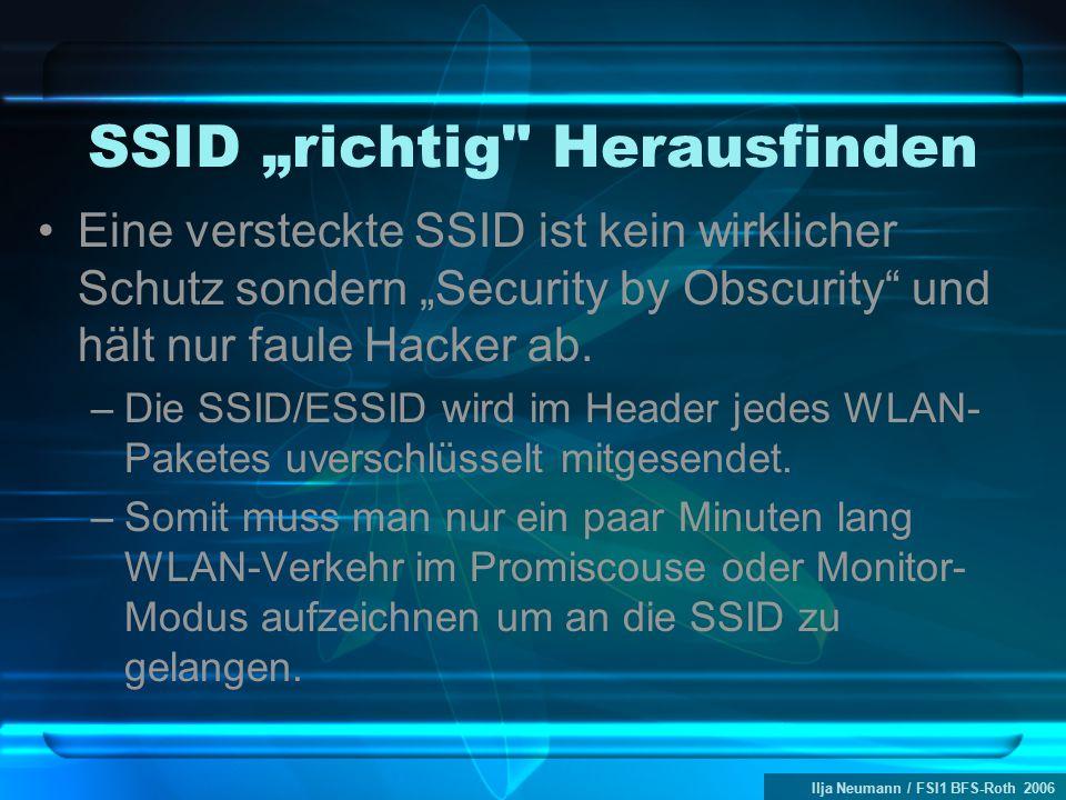 """Ilja Neumann / FSI1 BFS-Roth 2006 SSID """"richtig"""