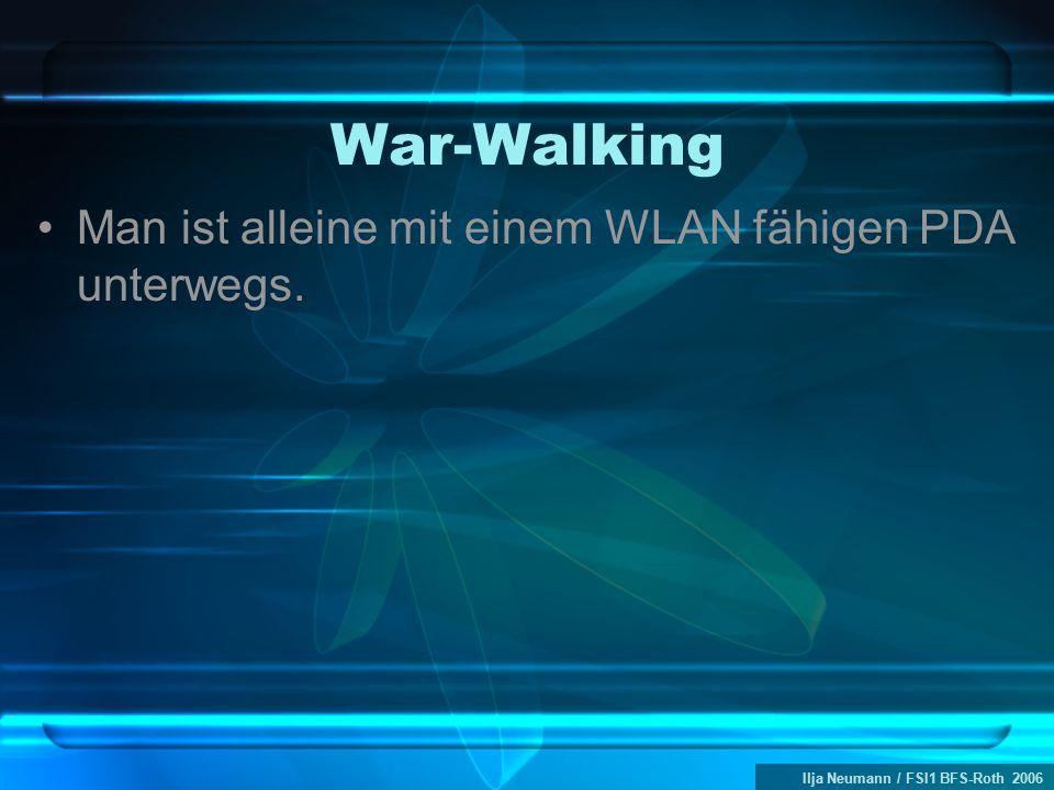 Ilja Neumann / FSI1 BFS-Roth 2006 War-Walking Man ist alleine mit einem WLAN fähigen PDA unterwegs.