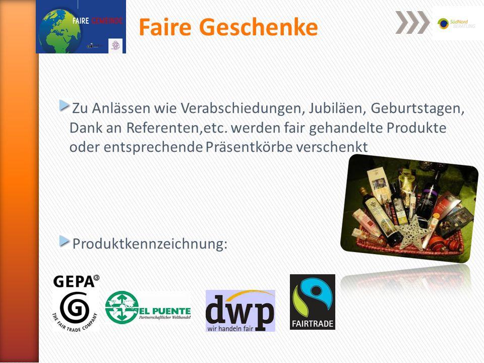 Veranstaltungen Mindestens einmal im Jahr wird eine Aktion oder Veranstaltung durchgeführt, in der es um Bekanntmachung und Förderung des Fairen Handels geht