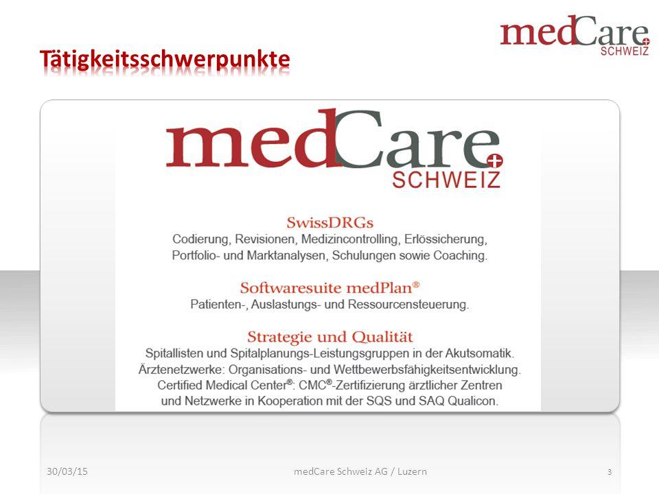 30/03/15 3 medCare Schweiz AG / Luzern