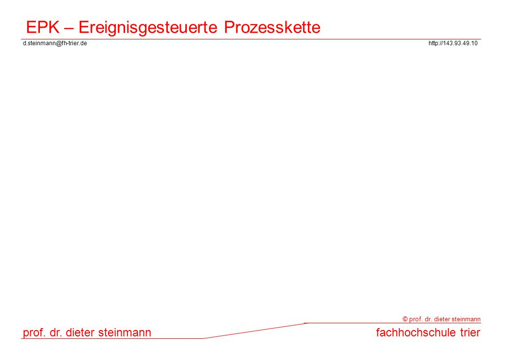 d.steinmann@fh-trier.dehttp://143.93.49.10 prof. dr. dieter steinmannfachhochschule trier © prof. dr. dieter steinmann EPK – Ereignisgesteuerte Prozes
