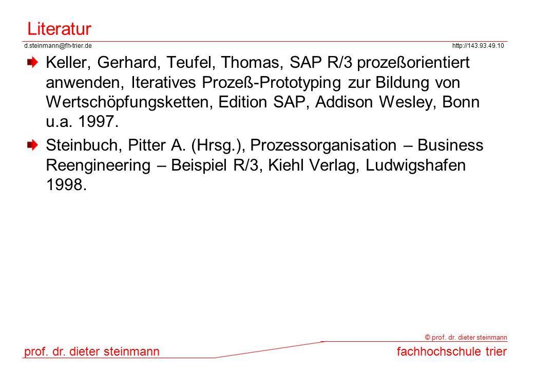 d.steinmann@fh-trier.dehttp://143.93.49.10 prof. dr. dieter steinmannfachhochschule trier © prof. dr. dieter steinmann Literatur Keller, Gerhard, Teuf