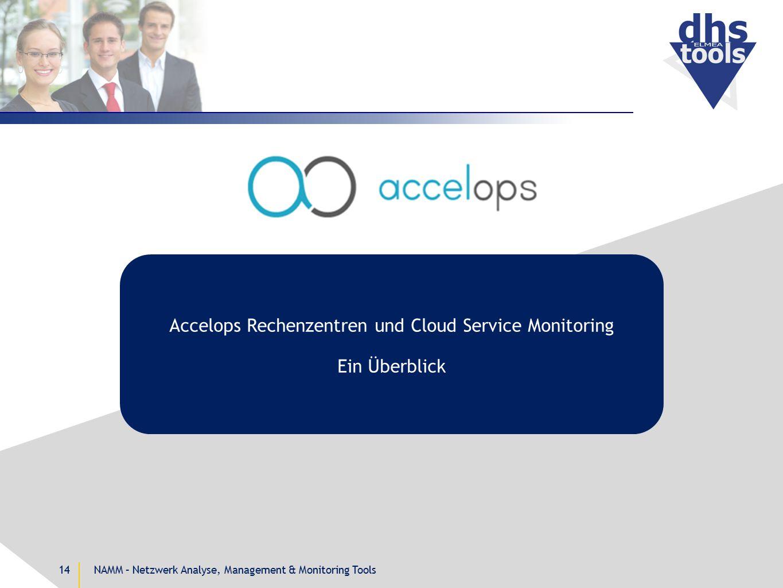 NAMM – Netzwerk Analyse, Management & Monitoring Tools14 Accelops Rechenzentren und Cloud Service Monitoring Ein Überblick