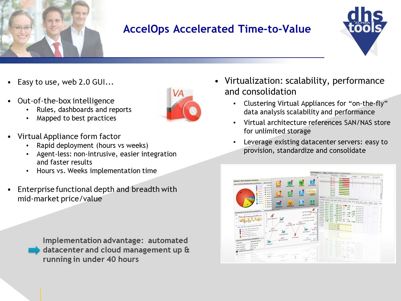 AccelOps Accelerated Time-to-Value Easy to use, web 2.0 GUI...