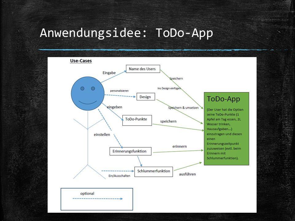 Anwendungsidee: ToDo-App