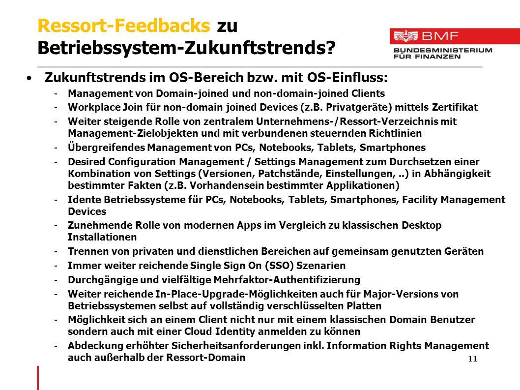 Ressort-Feedbacks zu Betriebssystem-Zukunftstrends.