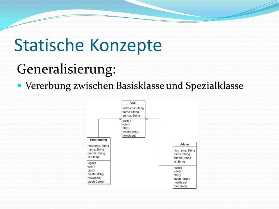 Statische Konzepte Paket: Gruppierung einzelner Element größerer Softwaresysteme