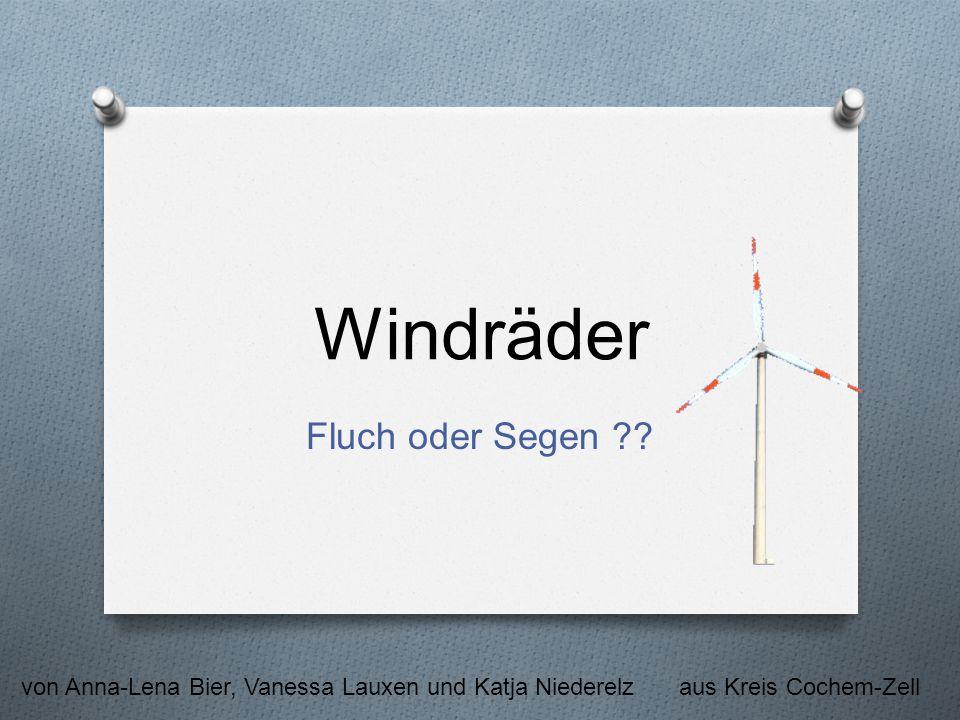 Windräder Fluch oder Segen ?? von Anna-Lena Bier, Vanessa Lauxen und Katja Niederelzaus Kreis Cochem-Zell