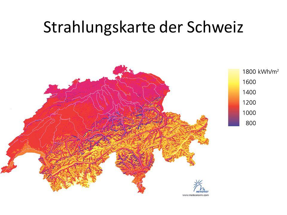 Strahlungskarte der Schweiz
