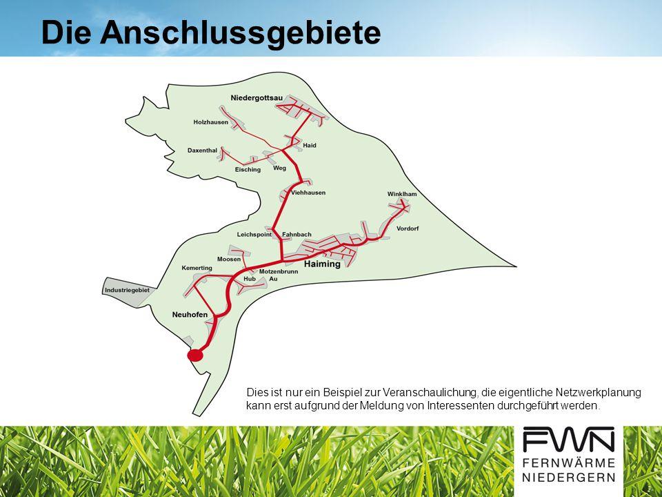 Die Anschlussgebiete Dies ist nur ein Beispiel zur Veranschaulichung, die eigentliche Netzwerkplanung kann erst aufgrund der Meldung von Interessenten durchgeführt werden.