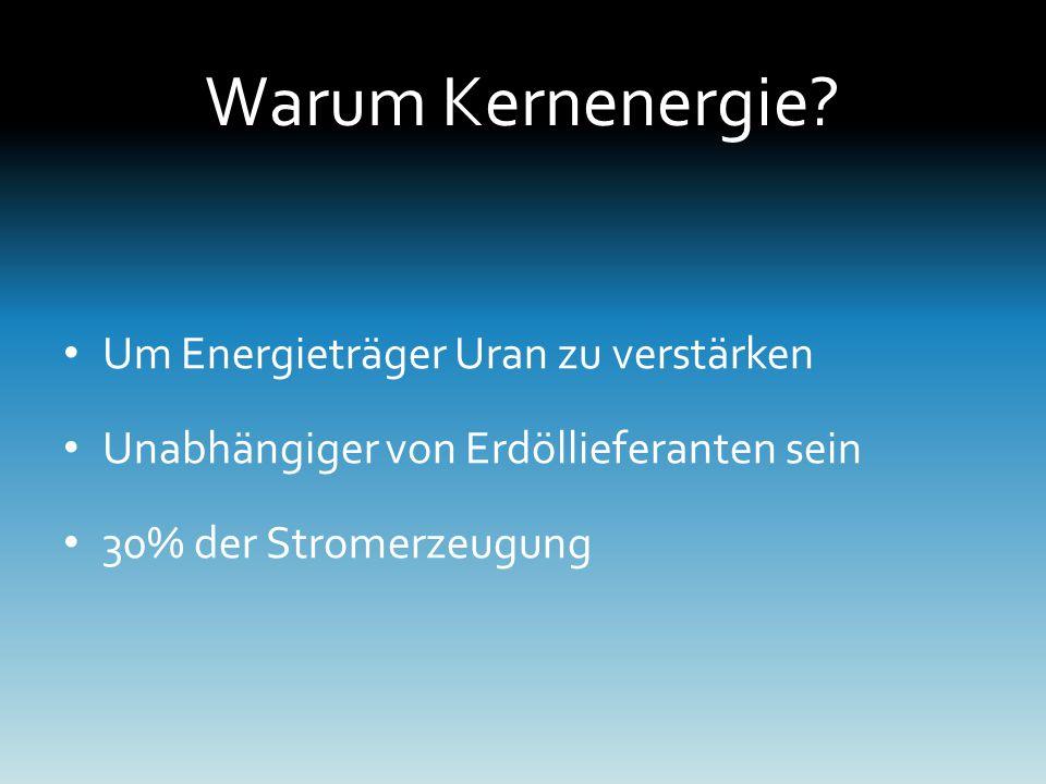 Warum Kernenergie.