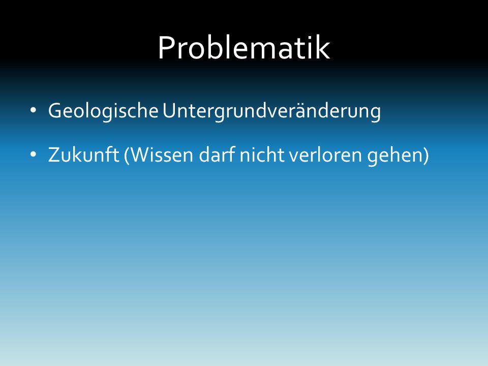 Problematik Geologische Untergrundveränderung Zukunft (Wissen darf nicht verloren gehen)