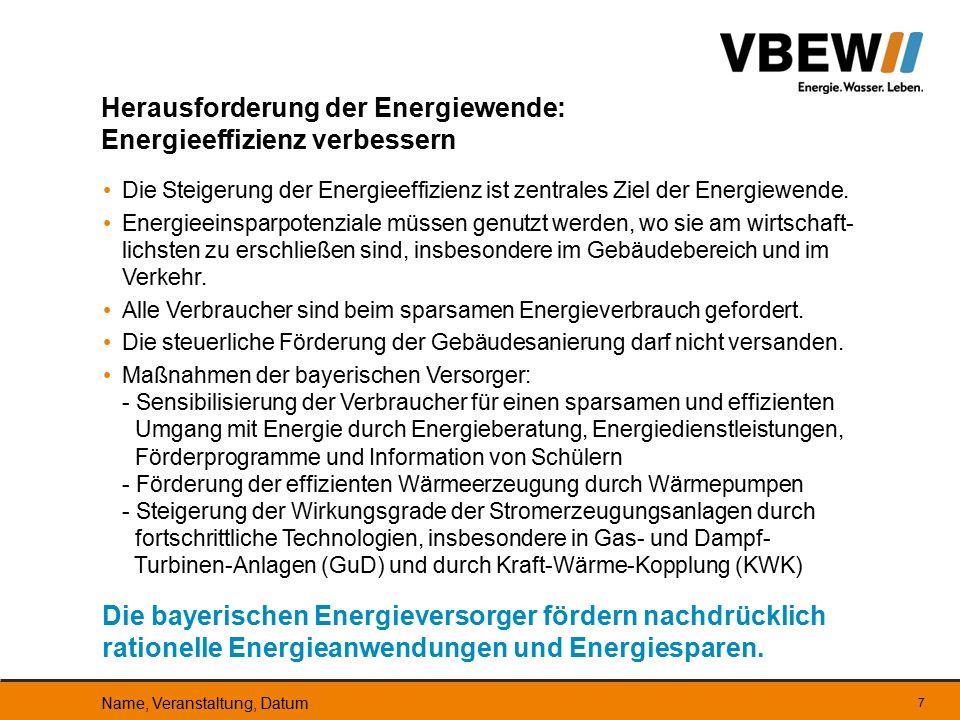 Eine Energieversorgung auf Basis heimischer erneuerbarer Energien erfordert Speicher, für wind- und sonnenarme Zeiten.