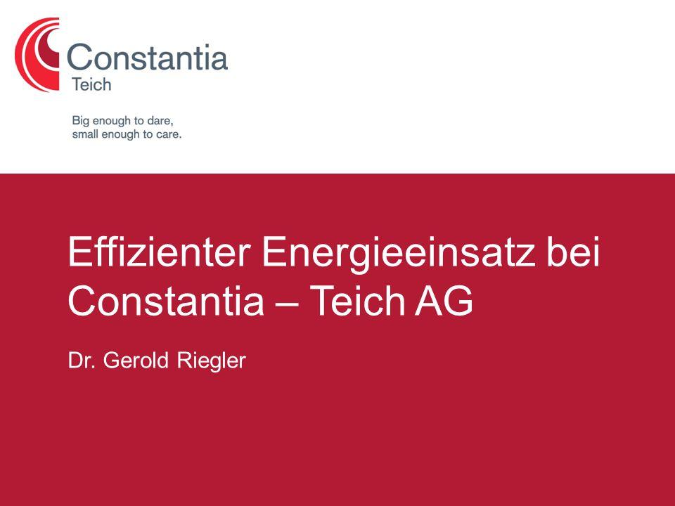 G. Riegler, 04.05.2010Seite 1 Formatvorlage des Untertitelmasters durch Klicken bearbeiten Dr. Gerold Riegler Effizienter Energieeinsatz bei Constanti