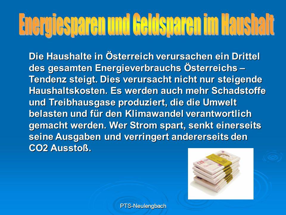 PTS-Neulengbach Standardglühlampe durch Energiesparlampen ersetzen.
