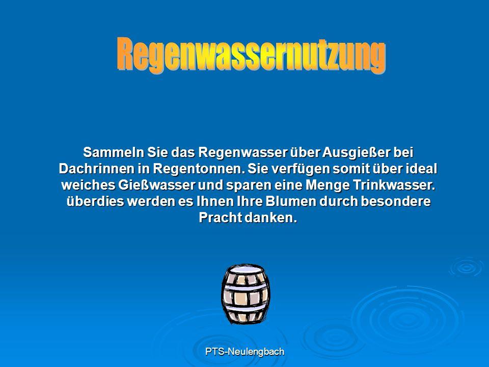 PTS-Neulengbach Sammeln Sie das Regenwasser über Ausgießer bei Dachrinnen in Regentonnen. Sie verfügen somit über ideal weiches Gießwasser und sparen