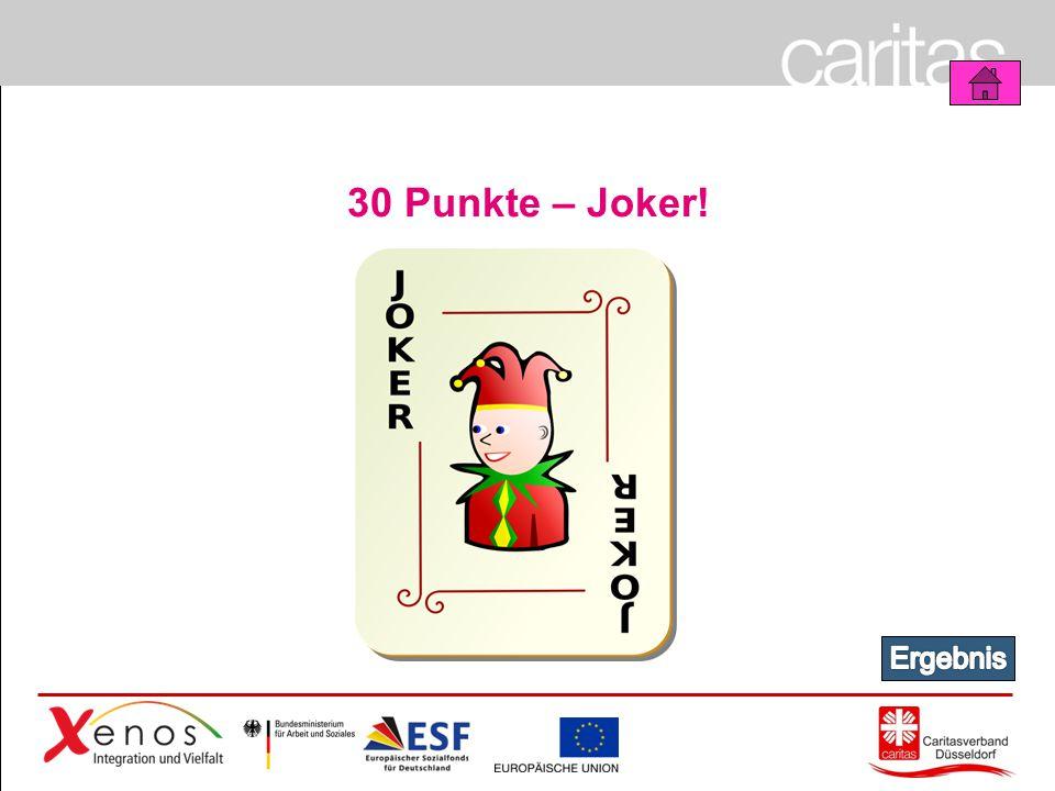 Page 17 30 Punkte – Joker!