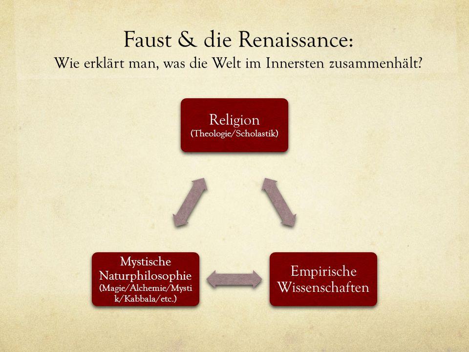 Faust & die Renaissance: Wie erklärt man, was die Welt im Innersten zusammenhält.