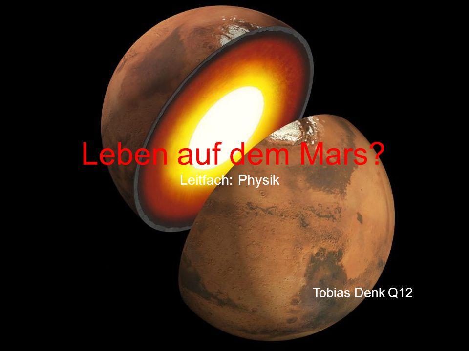 Leben auf dem Mars? Leitfach: Physik Tobias Denk Q12