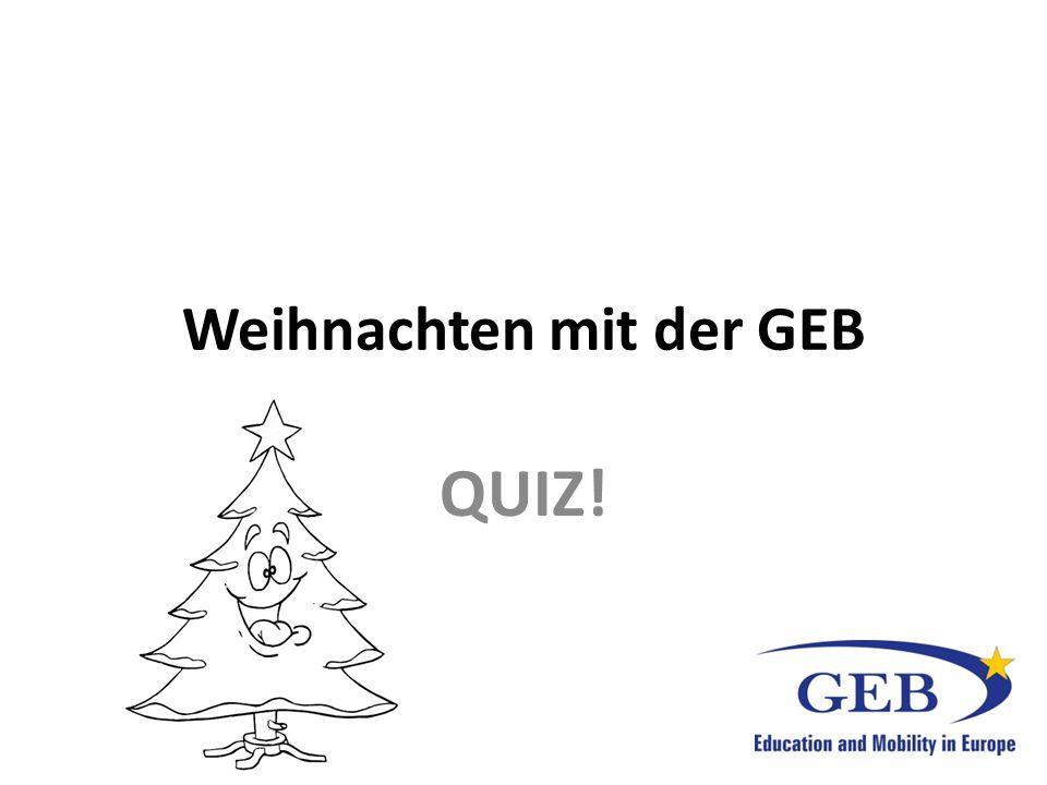 Weihnachten mit der GEB QUIZ!